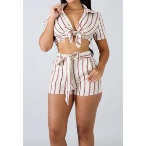 Other - Naturi Striped Short Set